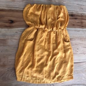Dresses & Skirts - Mustard Strapless Dress